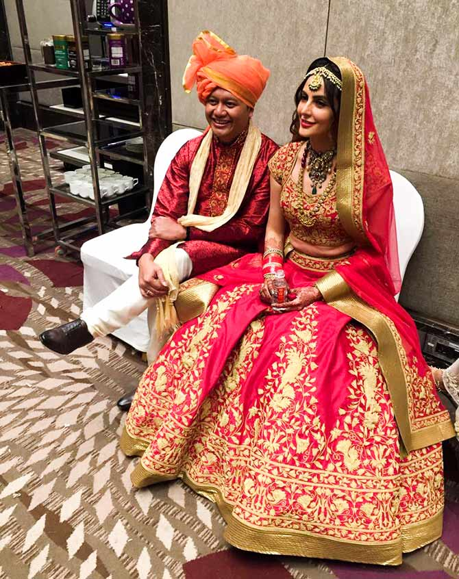 India Tv - Mandana Karimi tied knot with her longtime beau Gaurav Gupta in a secret affair, but later they walked the aisle in a lavish setup