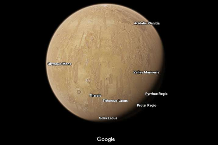 India Tv - Mars as seen from Google Maps