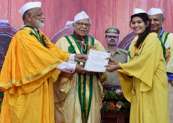 Ram Naik during 39th convocation ceremony at Mahatma Gandhi