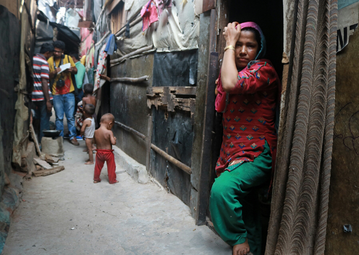 A view of Rohingya muslims staying in dilapidated condition