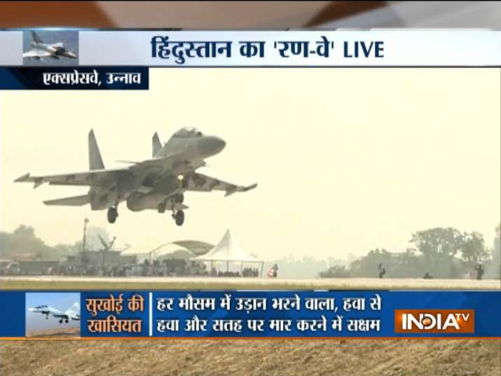 IAF's Sukhoi fighter jets make touchdown on Agra-Lucknow