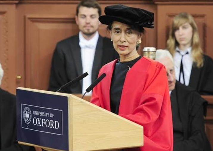 Oxford students vote to remove Suu Kyi's name from their