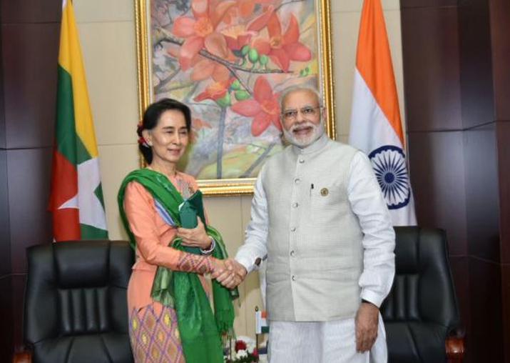 File pic - PM Modi advised Suu Kyi not to 'destroy' her