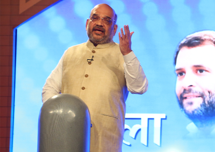 BJP president Amit Shah at India TV's Chunav Manch conclave