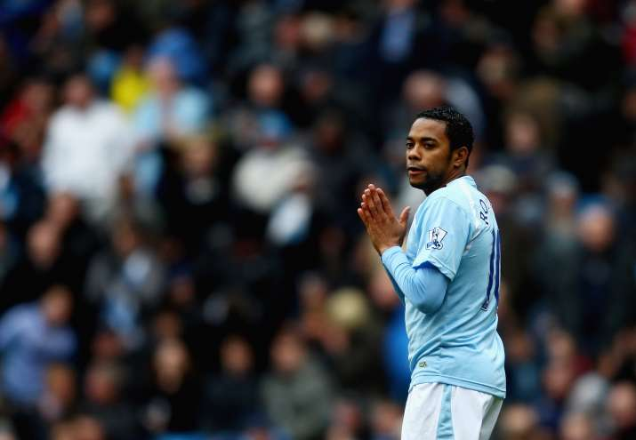 India Tv- A file image of Robinho during his time at Manchester City