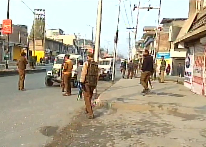 Terrorists attack security vehicle in Jammu and Kashmir's Anantnag.