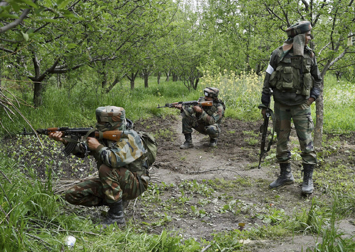 Two Army jawans , militant killed in Pampore encounter