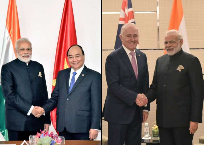 PM Modi holds bilateral meetings with counterparts from