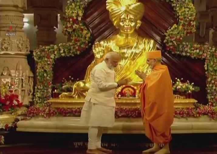 PM Narendra Modi offers prayers at Akshardham temple in
