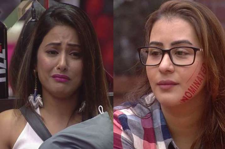 Hina Khan puts chilli powder on Bandagi's face