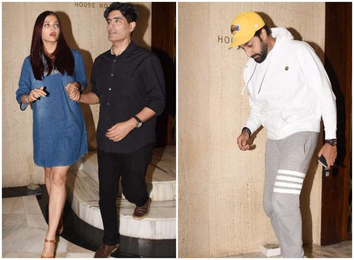 Abhishek-Aishwarya snapped at Manish Malhotra's house with Karan Johar""