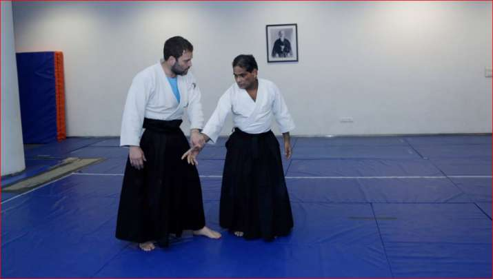 Finally, Congress shares pics of Rahul Gandhi as Aikido black belt