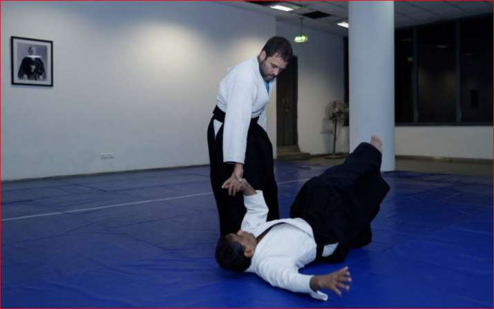 Congress VP Rahul Gandhi shows off his Aikido moves