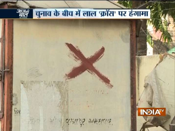 Amid election fever in Gujarat, red 'cross marks' in few