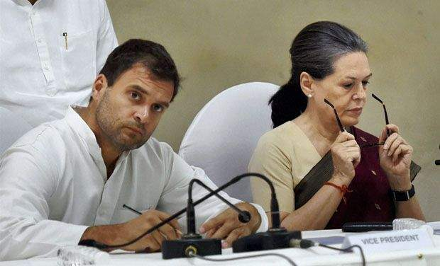 Congress vice-president Rahul Gandhi with mother Sonia.
