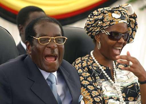 File photo of Zimbabwe President Robert Mugabe and his wife Grace.