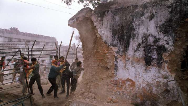 India Tv - The Babri Masjid was demolished by a gathering of more than 2 lakh Karsevaks, followed by communal riots all across the nation, which claimed over 1,000 lives.