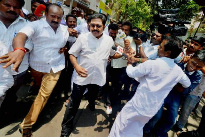 Dhinakaran ahead, ruling AIADMK trailing, DMK in third spot