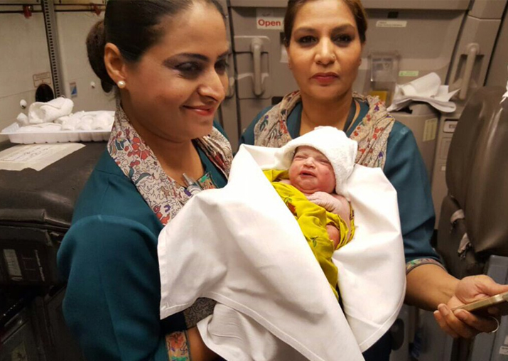 Woman gives birth to baby girl during worldwide flight on PIA