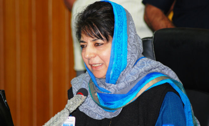 Mehbooba inducts brother Tassaduq into her cabinet, Governor administers oath