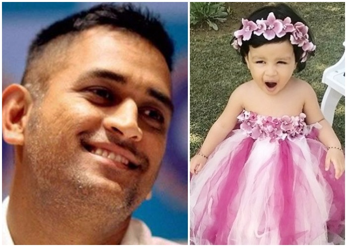 ms dhoni daughter ziva viral video