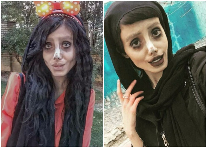 Iranian Look Like Angelina Jolie >> Remember 'Zombie' lookalike of Angelina Jolie? It turns out to be a HOAX! Here's the truth