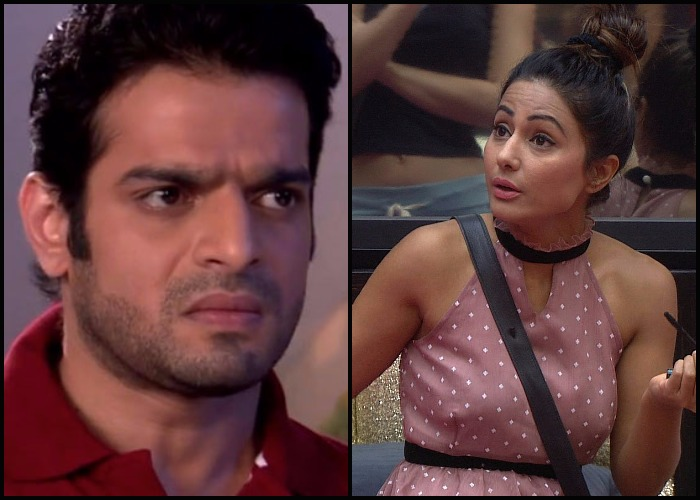 bigg boss 11 weekend ka vaar hina khan karan patel