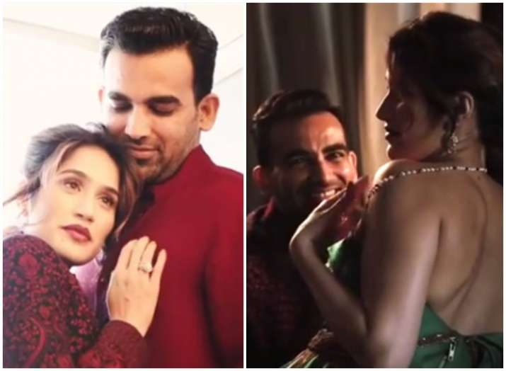 Newlyweds Sagarika Ghatge and Zaheer Khan magazine
