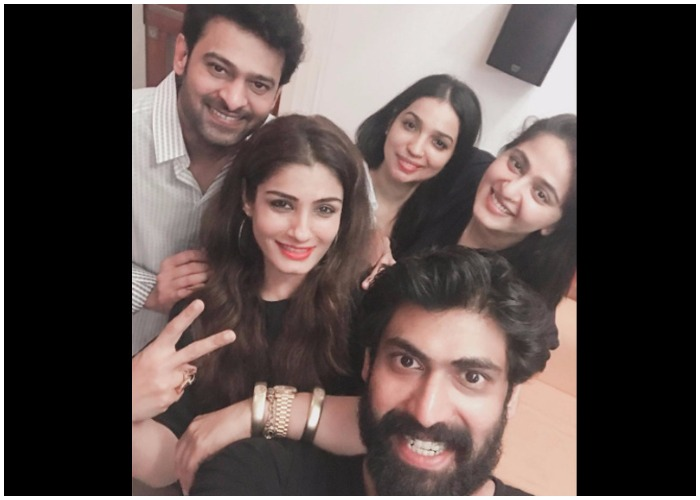 India Tv - Baahubali cast with Raveena Tandon