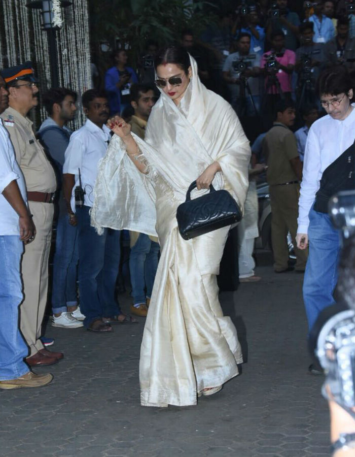 India Tv - Veteran actress Rekha at Shashi Kapoor's prayer meet