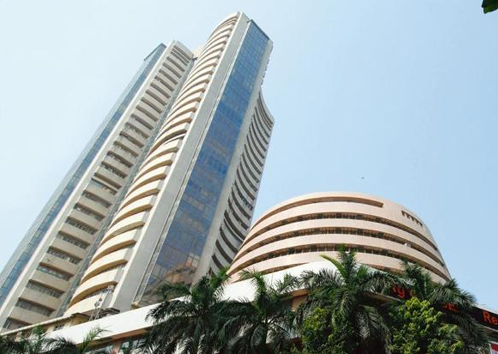 Sensex jumps 216 points as exit polls drive sentiments high