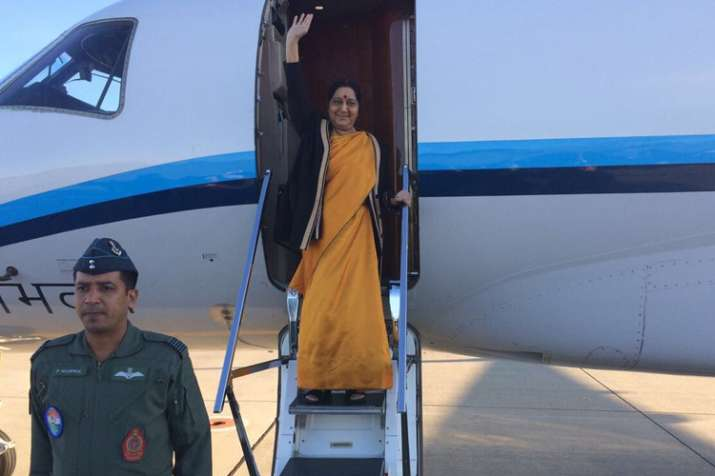 Strategic port in sight, Sushma makes unscheduled stopover in Iran