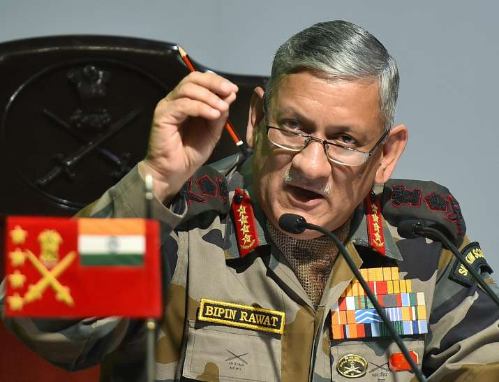 Teachers in JK teach two maps to students: Gen. Rawat