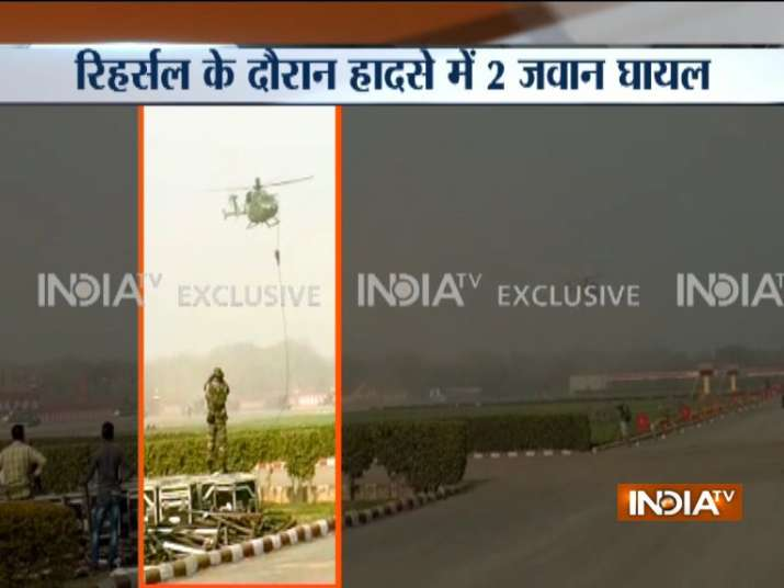 Army Personnel Fall From Chopper During Security Drill