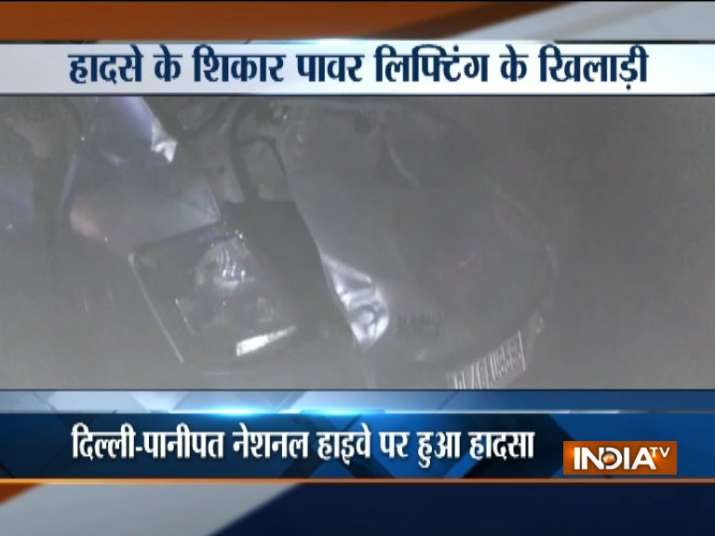 Four power-lifters killed in road accident near Delhi-Haryana border