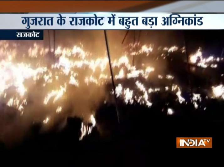 Rajkot Three girls killed 15 injured as fire breaks out