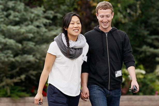 Mark with wife Priscilla Chan