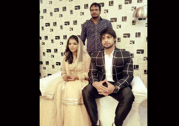 India Tv - Sakshi Malik's engagement pics- India TV