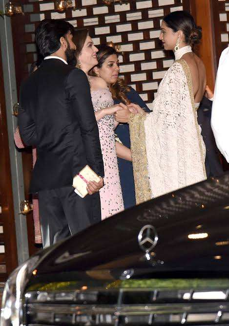 India Tv - Ranveer and Deepika at the bash