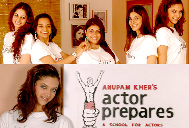 Deepika Padukone in acting school