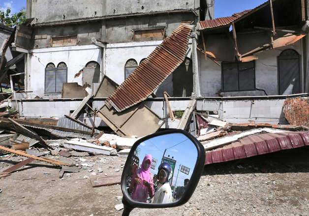 Damaged building after an earthquake in Pidie Jaya, Aceh province