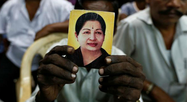 File pic of TN CM Jayalalithaa who passed away on Dec 5 night