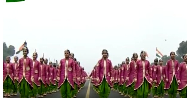 Cultural performance by girl students
