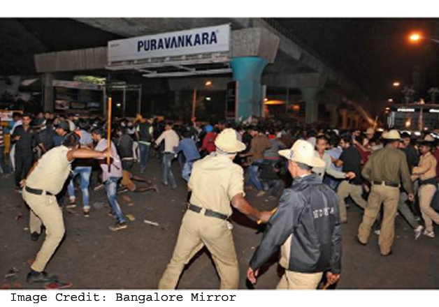 1,500 cops watched as mobs targeted women on New Year's eve in Bengaluru