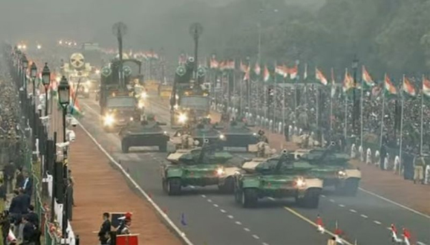 Infantry combat vehicles salute to the President