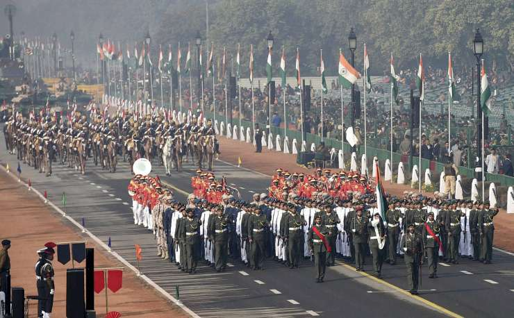 UAE contingent leading R-Day parade at Rajpath