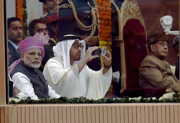 Abu Dhabi Crown Prince Sheikh Mohamed bin Zayed Al Nahyan at R-Day function