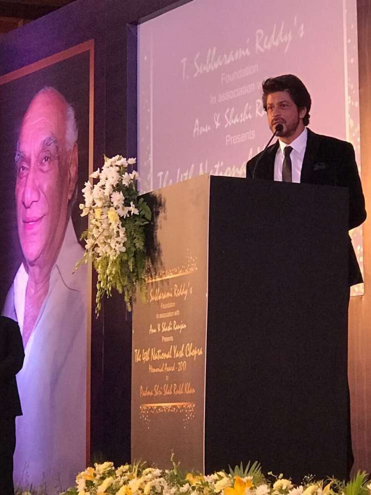 India TV - Shah Rukh Khan honoured with Yash Chopra Award