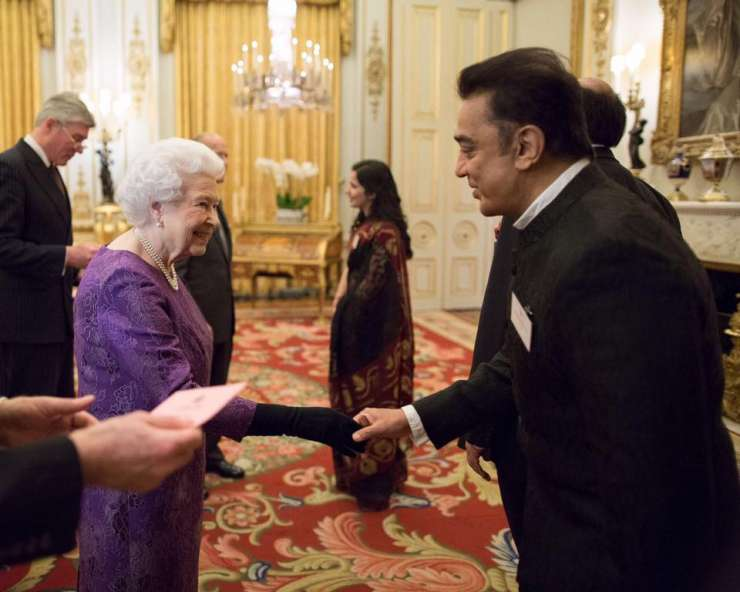 India TV - Kamal Hassan and Queen Elizabeth