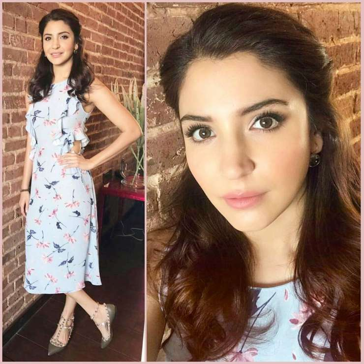 India Tv - anushka sharma in ruffle printed Zara dress
